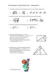 Rechnen mit Wurzeln, Pythagoras