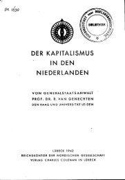 DER KAPITALISMUS IN DEN NIEDERLANDEN