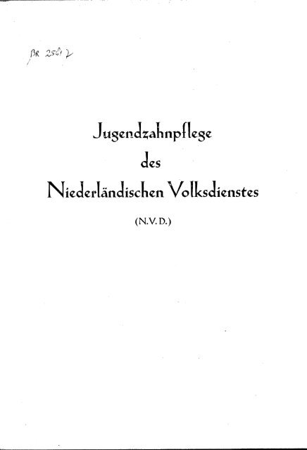 Jugendsalmpflege des jNicJcrlandisckcn Volksdienstes
