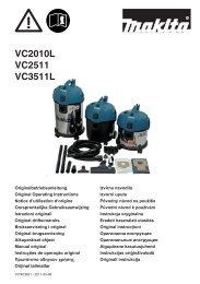 VC2010L VC2511 VC3511L - Makita