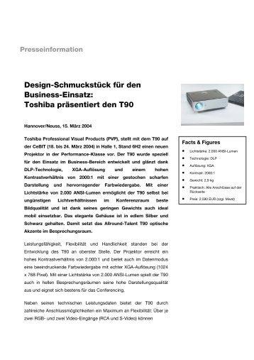 Design-Schmuckstück für den Business-Einsatz: Toshiba präsentiert ...