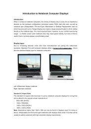 Notebook Computer Display Selection Advice - Newegg.com