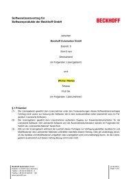 Lizenzkonditionen für Beckhoff Softwareprodukte - download ...