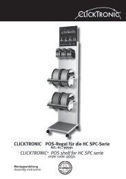 CLICKTRONIC® POS-Regal für die HC SPC-Serie ... - Wentronic