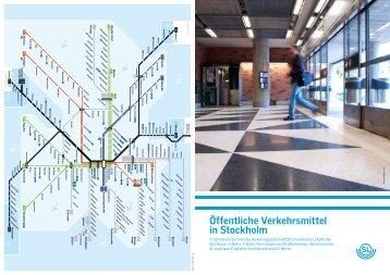 Öffentliche Verkehrsmittel in Stockholm - SL