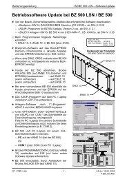BA (A3.de)-BZ/BE 500 Software-Update*** - Bosch Security Systems