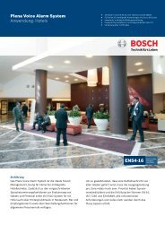 Plena Voice Alarm System Anwendung: Hotels - Bosch Security ...