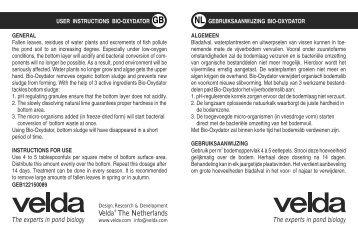 gebruiksaanwijzing Bio-Oxydator - Fonq.nl