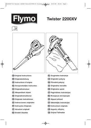 5100007-02 Twister 2200XV Euro:5107900-01 ... - Plantes et Jardins