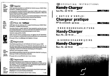 Handy-Charger Chargeur pratique Handy-Charger Handy-Charger