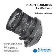 SCHNEIDER PC-Super-Angulon 2,8/28 - bei Foto Huppert