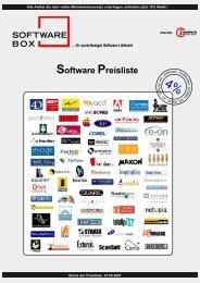 Software Preisliste - Softwarebox: Aktionsliste mit Software für ...