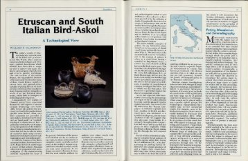 Etruscan and South Italian Bird-Askoi - University of Pennsylvania ...