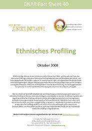 Ethnisches Profiling - Horus