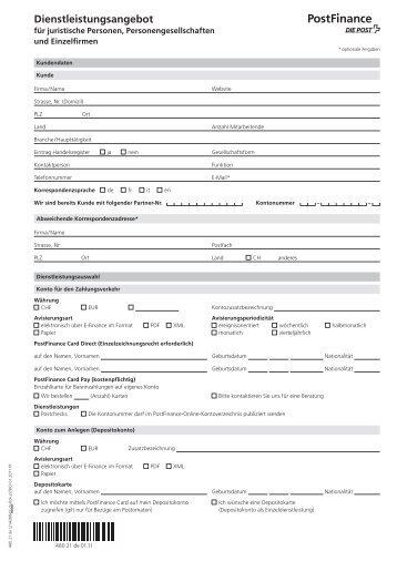 Dienstleistungsangebot für juristische Personen 480.21