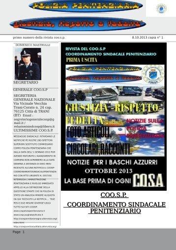 COO.S.P. COORDINAMENTO SINDACALE PENITENZIARIO