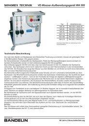 Ve-Wasser-Aufbereitungsgerät WA 500 - Schalltec Gmbh
