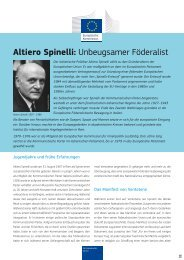 Altiero Spinelli: Unbeugsamer Föderalist - Europa