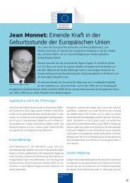 Jean Monnet: Einende Kraft in der Geburtsstunde der ... - Europa