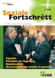 Tripartite, Prioritäten der Regierung, Staatshaushalt: die ... - LCGB