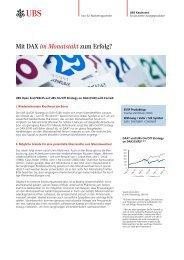 Factsheet - UBS KeyInvest
