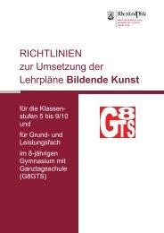 Fach Bildende Kunst - Gymnasien in Rheinland-Pfalz
