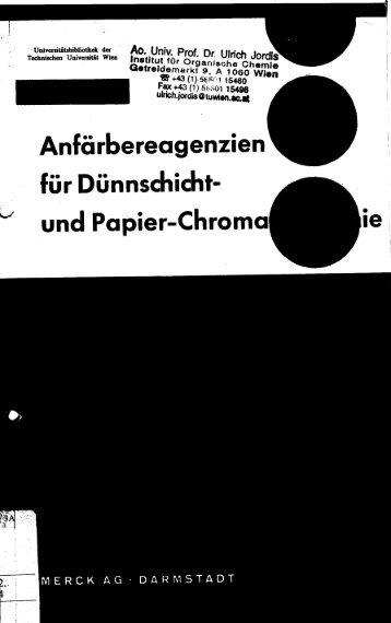 Anfärbereagenzien für Dünnschicht- und Papier-Chrom - Ulrich Jordis