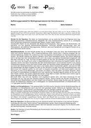 Aufklärungsprotokoll für Schlingenoperationen bei ... - SGGG