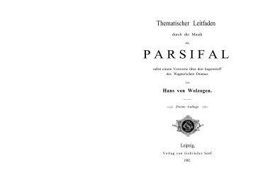 PARSIFAL - Thematischer Leitfaden - Textcube.com