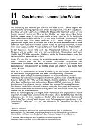 I1 Das Internet - unendliche Weiten - SwissEduc.ch