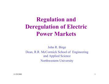 an introduction to the market power in the deregulation of electricity Prior to deregulation, electricity was supplied by regional monopolies that owned both the power plants and the transmission lines for the distribution of power the california legislature set the rate of return of profit for the utilities, and the state public utilities commission planned for future power needs and helped insure that rate.