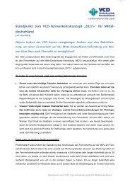 Standpunktpapier - VCD Landesverband Elbe-Saale