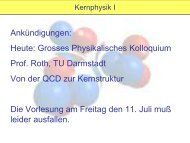 Ankündigungen: Heute: Grosses Physikalisches Kolloquium Prof ...