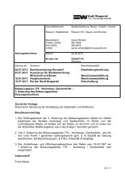 Bebauungsplan 778 - 3. Änderung - Drucksache ... - Stadt Wuppertal