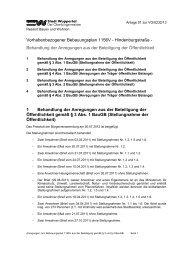 Bebauungsplan 1156V - Abwägung zum ... - Stadt Wuppertal