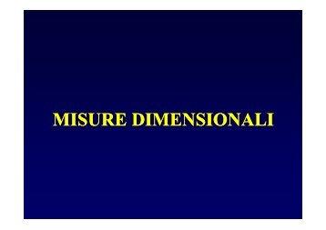 misure dimensionali