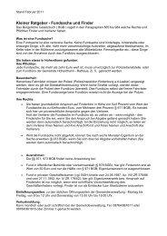Kleiner Ratgeber - Fundsache und Finder - Gemeinde Hohenthann