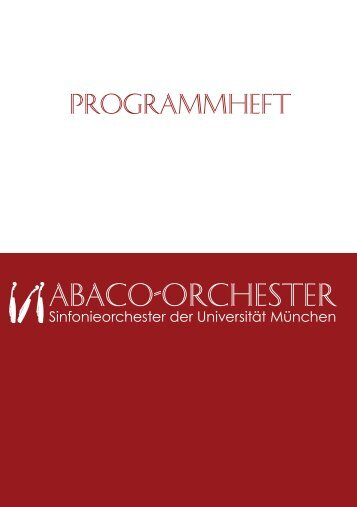 Programmheft - Abaco Orchester