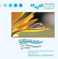 Depression und Burnout rper und S eele in s Gleich ieder - CKT