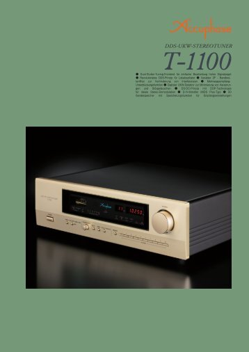 """""""Accuphase T-1100"""" (PDF)"""