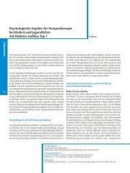 Psychologische Aspekte der Pumpentherapie bei ... - Accu-Chek
