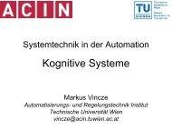 Kognitive Systeme - ACIN - Technische Universität Wien