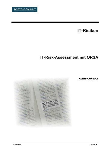 IT-Risiken - Acrys Consult