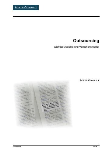Outsourcing - Acrys Consult