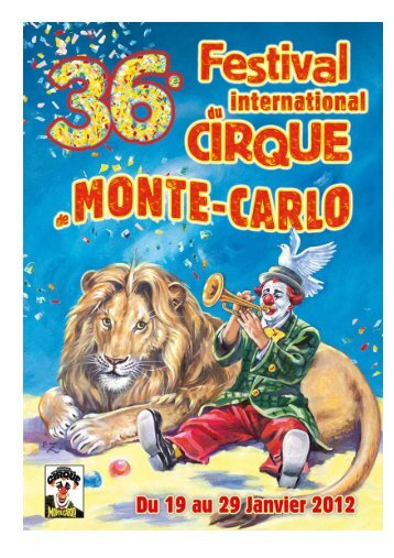 2012 Zirkusfestival Monte Carlo Programm - Sektion beider Basel