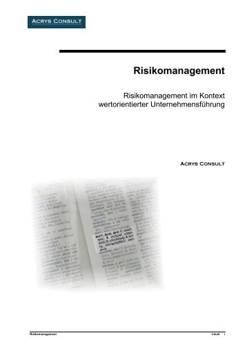 Risikomanagement - Acrys Consult