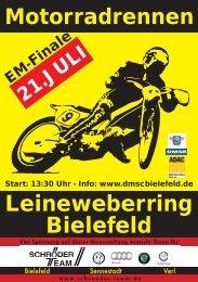 Flyer zum Motorradrennen