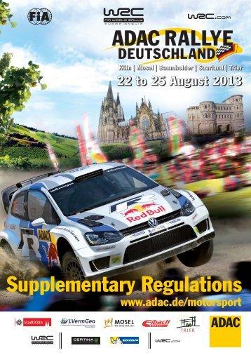 Ausschreibung - ADAC Rallye Deutschland