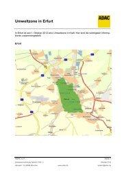 Umweltzone in Erfurt - ADAC