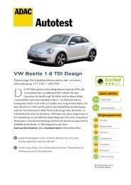 Umfassender Test VW Beetle 1.6 TDI Design - ADAC
